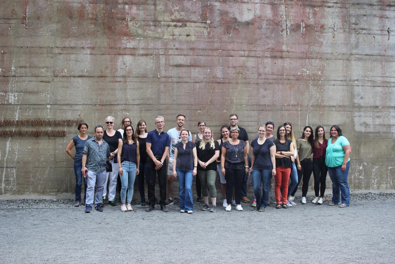 The Beyss Architekten GmbH team in front of the former Ahr Valley government bunker