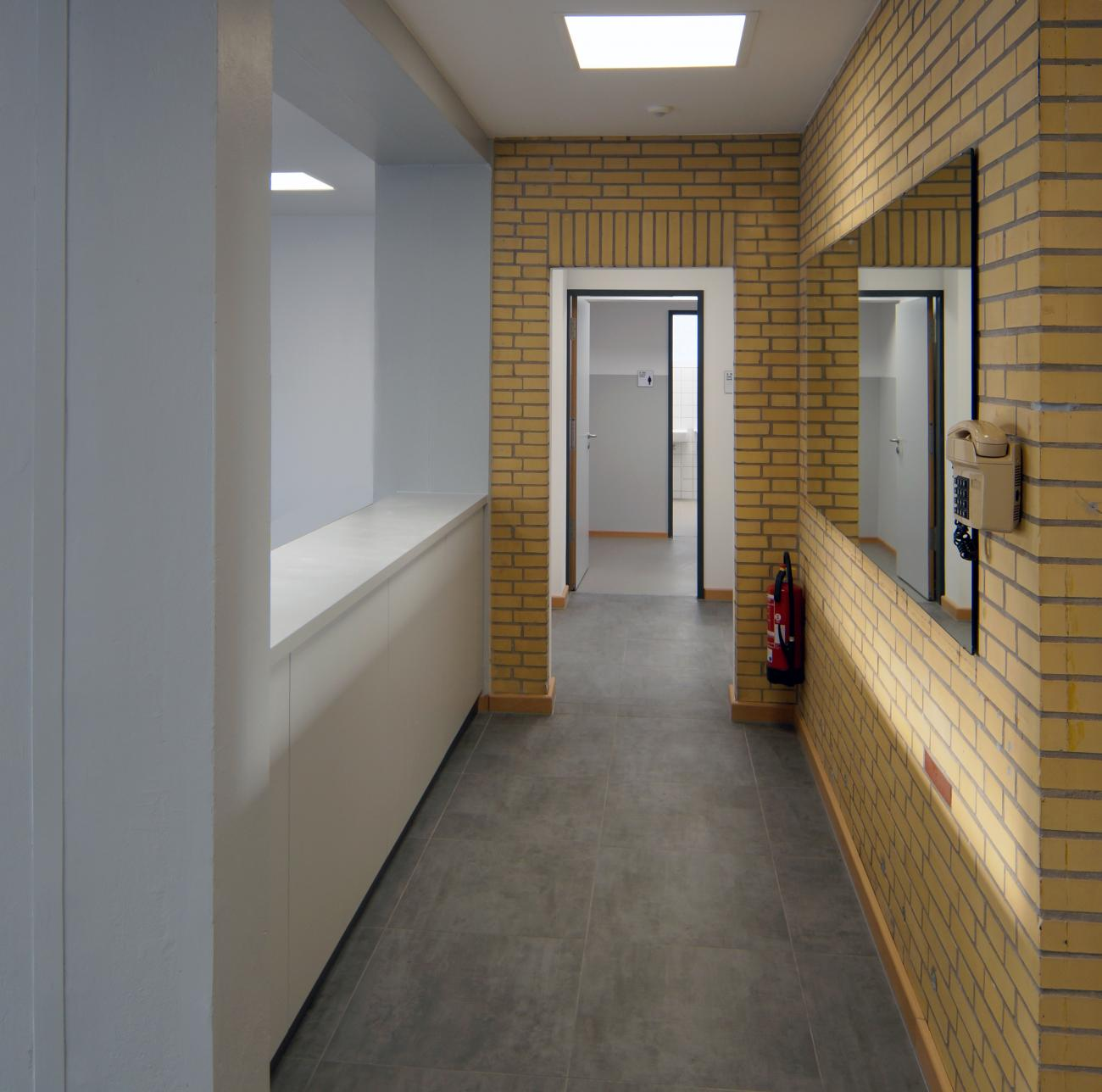 sports and multi-purpose hall Duisdorf, access to changing room and shower room